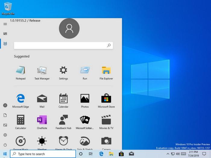 Новое меню Пуск для Windows 10