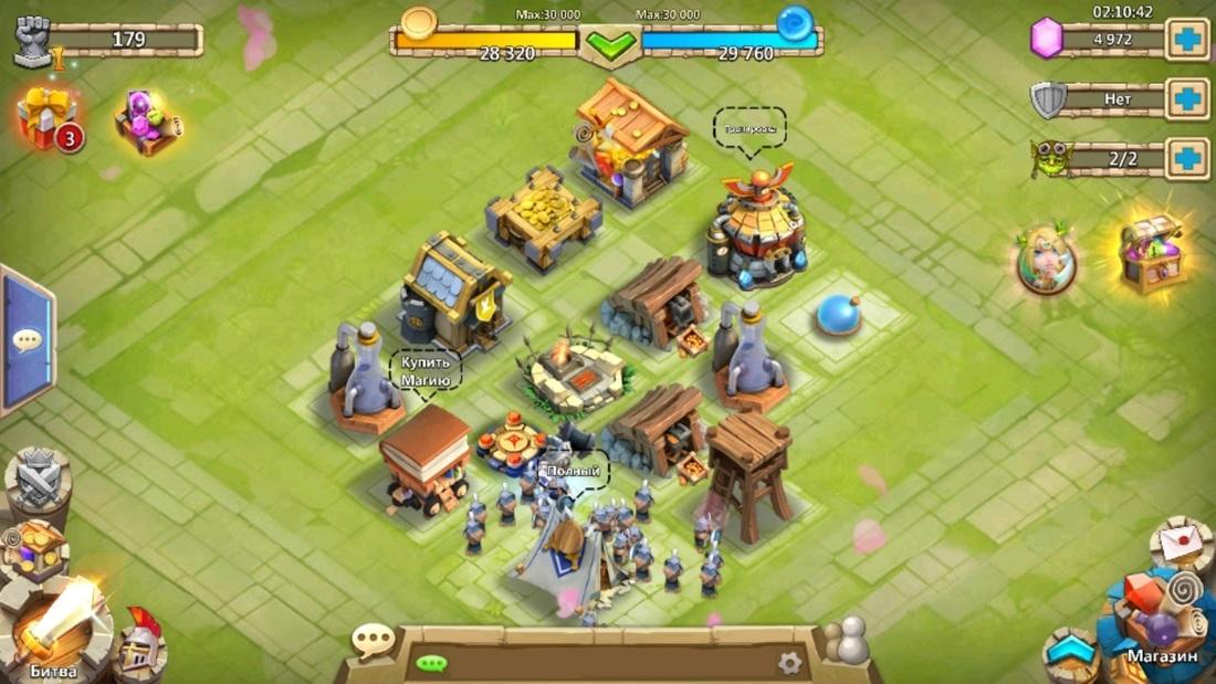 Стартовый замок в Castle Clash