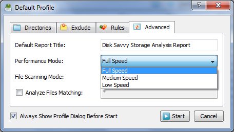 Disk Savvy - Settings