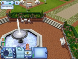 Sims3 - Фонтан