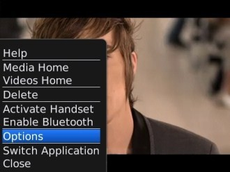 Blackberry Bold 9700 - Опции видео