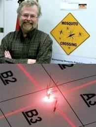 Лазер убивает комаров
