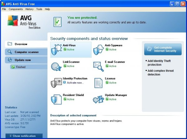 AVG Free Edition 9.0 Build 819a2842