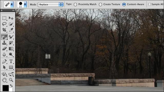 Adobe Photoshop CS5 - Удаление объектов и заливка 2