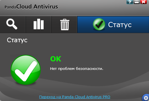 Panda Cloud Antivirus - Статус защиты