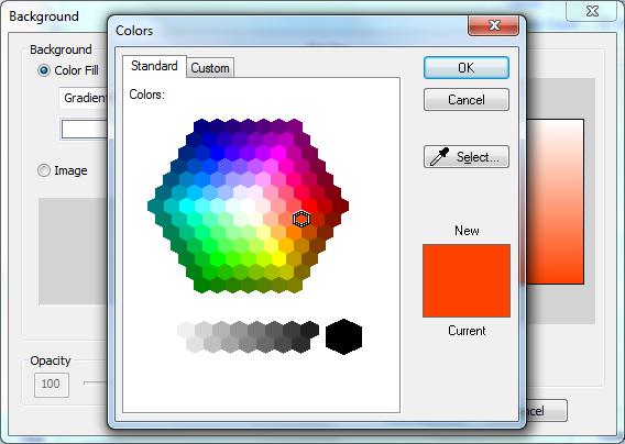 CollageIt - Выбор цвета фона