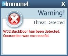 Immunet Protect - Warning