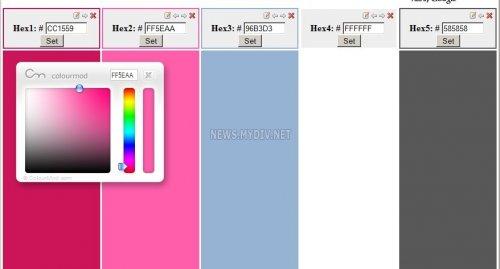 Работа с цветом на странице Combo Tester