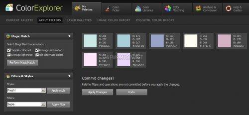 Работаем с палитрой Apply Filters на ColorExplorer