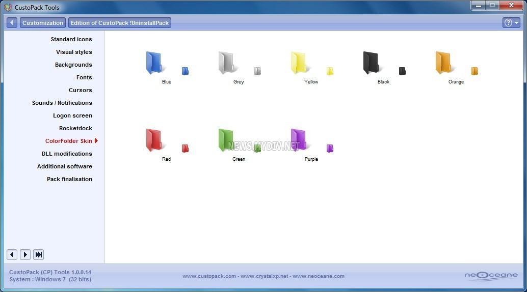 CusotPack Tools - Редактирование установленной темы