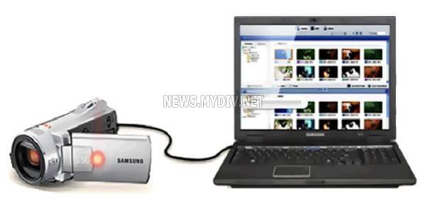 Правильное подключение видеокамеры к ноутбуку