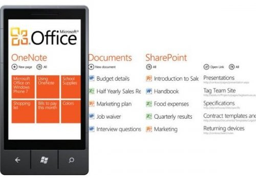 Набор приложений Office Mobile