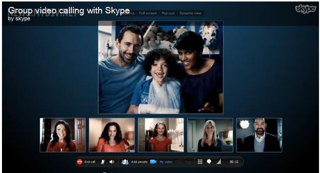 Групповой видео чат в Skype 5.1