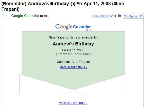 Используйте онлайн-календари