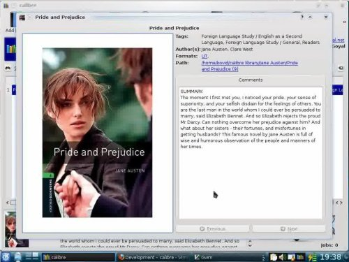 Окно программы Calibre