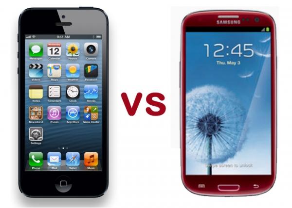 Видеообзор и краш-тест iPhone 5 и Samsung Galaxy S III