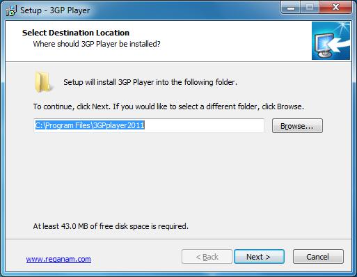Выбор папки, в которую будет установлена программа.