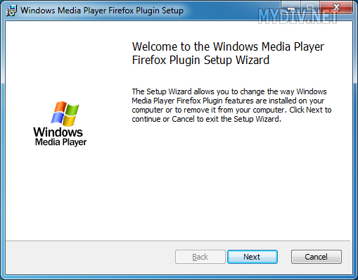 Установка плагина Windows Media Player