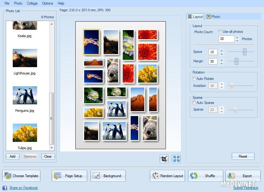 CollageIt - Работа с программой